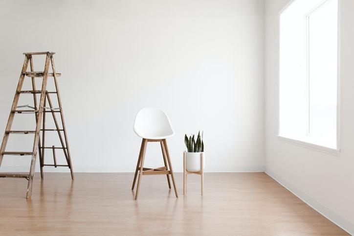 ladder chair hardwood floor room